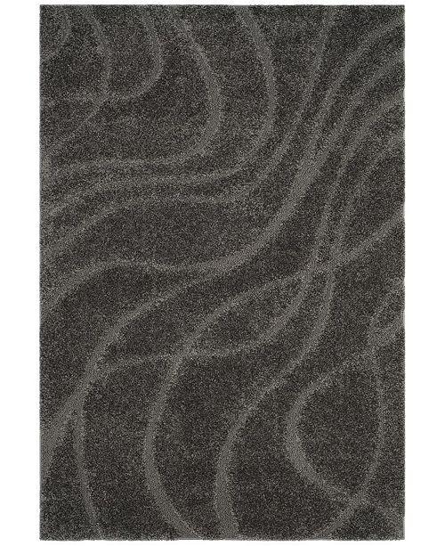 Safavieh Shag Gray 4' x 6' Area Rug