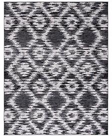 Adirondack Charcoal and Ivory 10' x 14' Area Rug