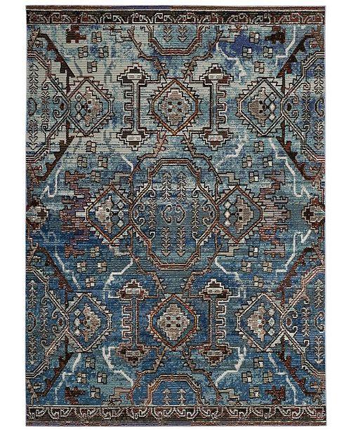 Safavieh Harmony Blue and Light Blue 4' x 6' Area Rug