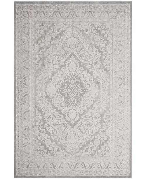 Safavieh Reflection Light Gray and Cream 6' x 9' Area Rug