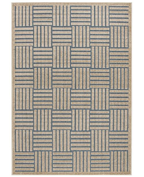 "Safavieh Cottage Light Blue and Beige 6'7"" x 9'6"" Area Rug"