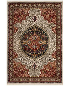 Kashan Ivory and Red 8' x 10' Area Rug