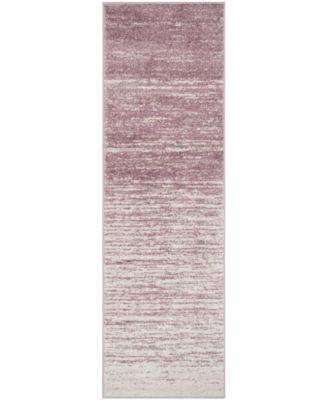 "Adirondack Cream and Purple 2'6"" x 6' Runner Area Rug"