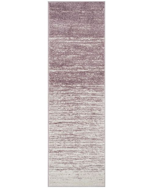 "Safavieh Adirondack Cream and Purple 2'6"" x 6' Runner Area Rug"