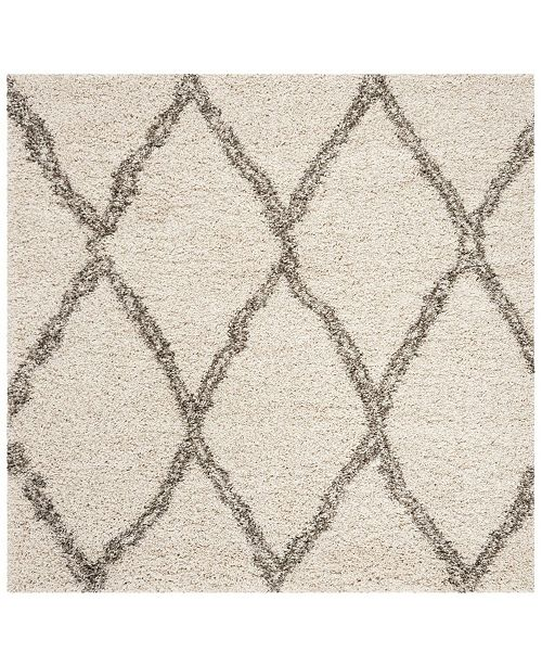 Safavieh Hudson Ivory and Gray 5' x 5' Square Area Rug