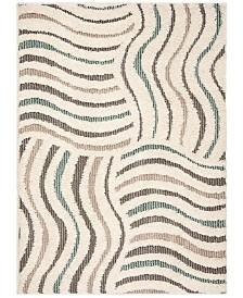 Safavieh Santorini Cream and Multi 2' x 8' Runner Area Rug