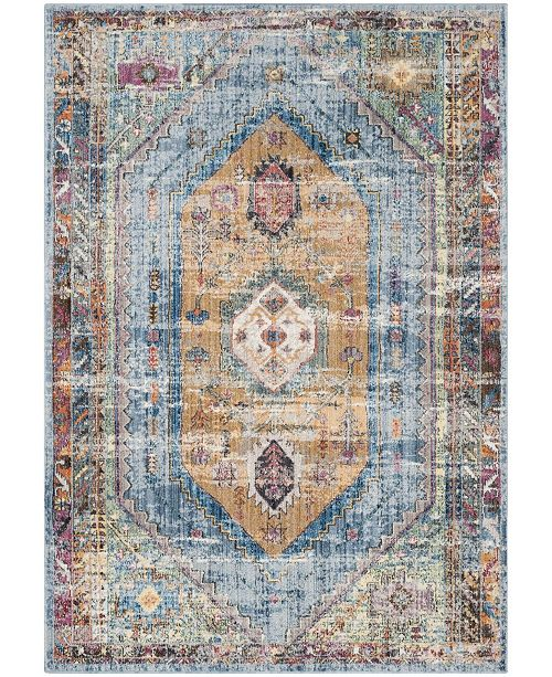 Safavieh Bristol Blue and Camel 10' x 14' Area Rug