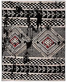 Adirondack Black and Light Gray 6' x 9' Area Rug