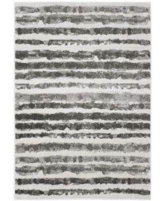 Adirondack Ivory and Charcoal 6' x 9' Area Rug