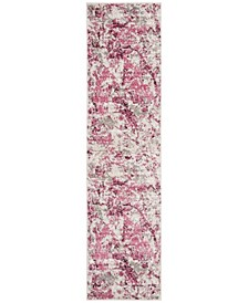 Skyler Pink and Ivory 2' x 10' Runner Area Rug