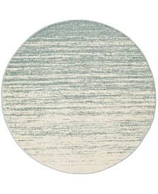 Safavieh Adirondack Slate and Cream 8' x 8' Round Area Rug