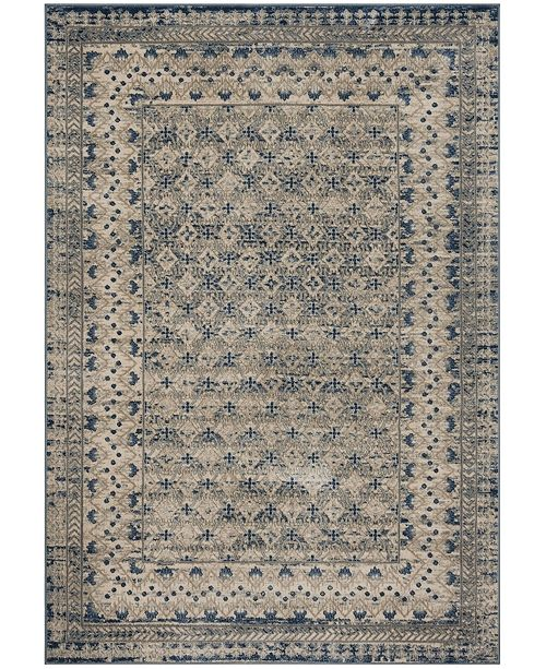 Safavieh Brentwood Light Gray and Blue 4' x 6' Area Rug