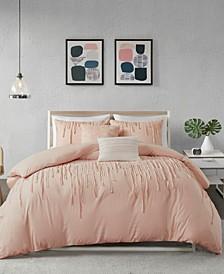 Paloma King/Cal King 5 Piece Cotton Duvet Cover Set