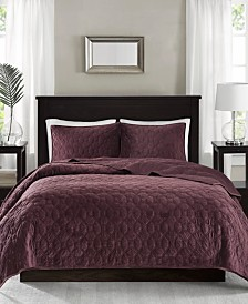 Madison Park Harper Velvet 3-Pc. Coverlet Set Collection