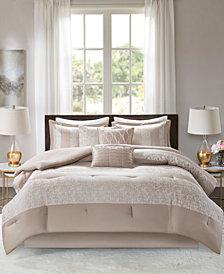 Madison Park Ava Cal King 7 Piece Chenille Jacquard Comforter Set