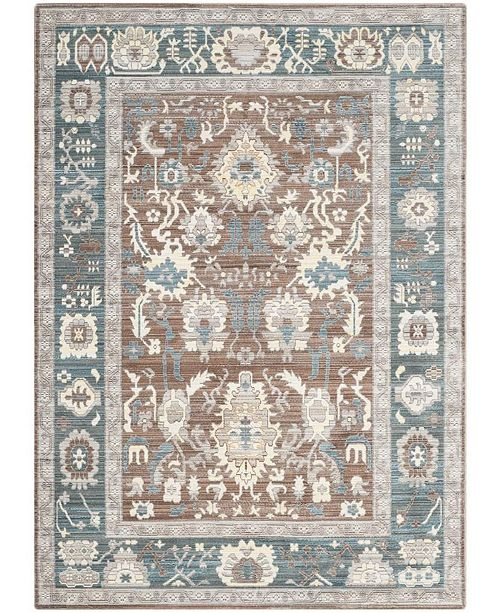 Safavieh Valencia Chocolate and Alpine 5' x 8' Area Rug