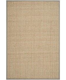Natural Fiber Natural and Gray 10' x 14' Sisal Weave Area Rug