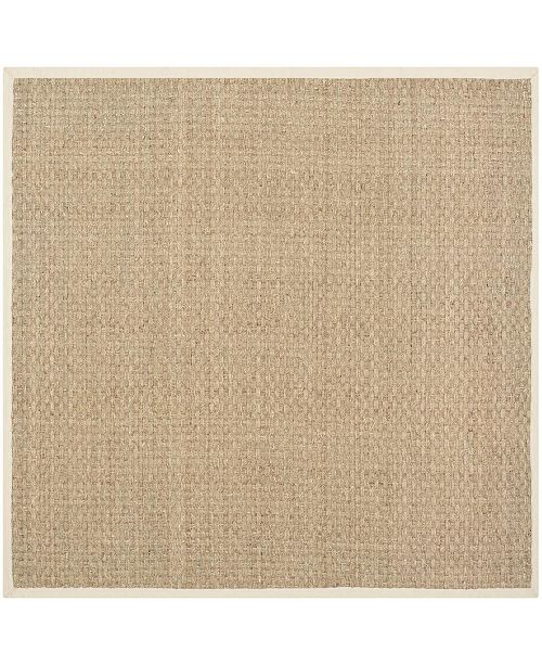 Safavieh Natural Fiber Natural and Beige 4' x 4' Sisal Weave Square Area Rug