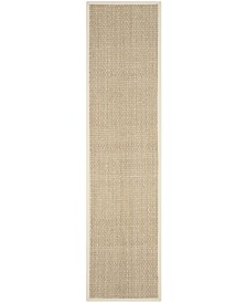 "Safavieh Natural Fiber Natural and Ivory 2'6"" x 12' Sisal Weave Runner Area Rug"