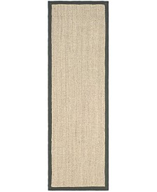 Safavieh Natural Fiber Marble and Grey 2' x 6' Sisal Weave Runner Area Rug
