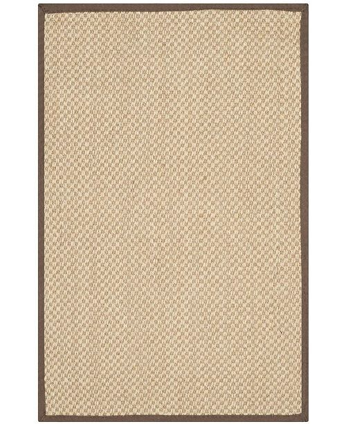 Safavieh Natural Fiber Maize and Brown 3' x 5' Sisal Weave Area Rug