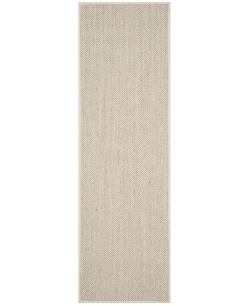 "Safavieh Natural Fiber Marble and Beige 2'6"" x 12' Sisal Weave Runner Area Rug"