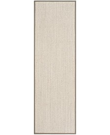 "Natural Fiber Marble and Khaki 2'6"" x 14' Sisal Weave Runner Area Rug"