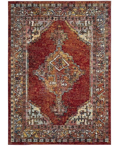 "Safavieh Savannah Red 5'1"" x 7'6"" Area Rug"
