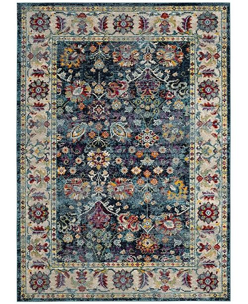 "Safavieh Savannah Navy and Blue 5'1"" x 7'6"" Area Rug"