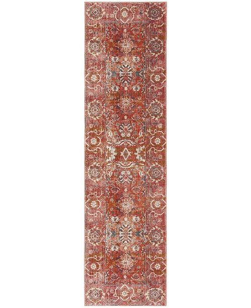 "Safavieh Vintage Persian Red and Orange 2'2"" x 8' Runner Area Rug"