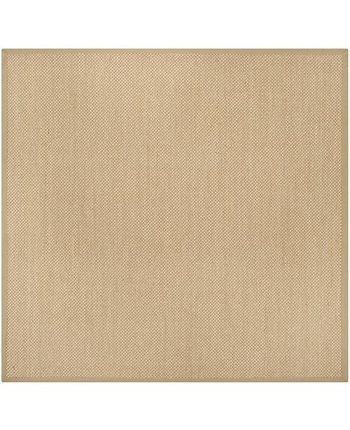 Safavieh Natural Fiber Maize and Linen 4' x 4' Sisal Weave Square Area Rug