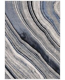 "Safavieh Spirit Blue and Gray 6'7"" x 6'7"" Square Area Rug"