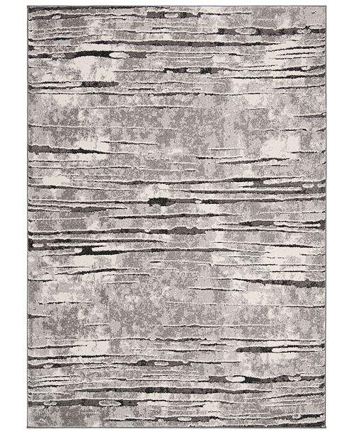 "Safavieh Spirit Gray and Dark Gray 6'7"" x 6'7"" Round Area Rug"