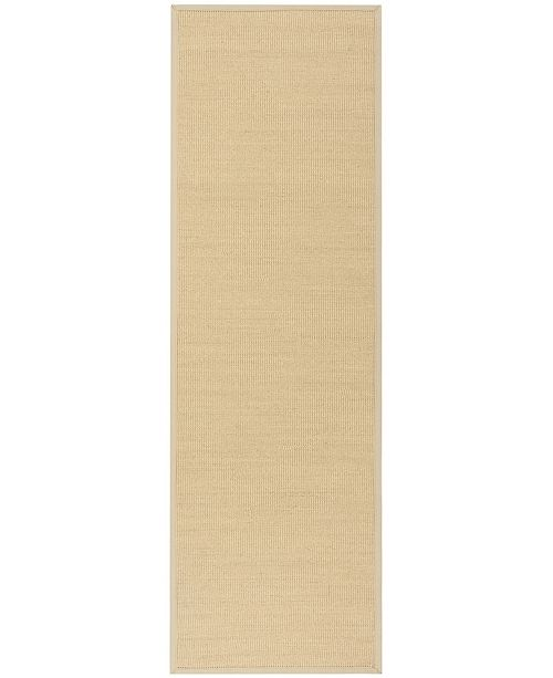 "Safavieh Natural Fiber Natural and Ivory 2'6"" x 6' Sisal Weave Runner Area Rug"