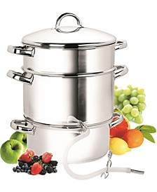 11-Quart Stainless Steel Fruit Juicer Steamer Multipot, 28cm