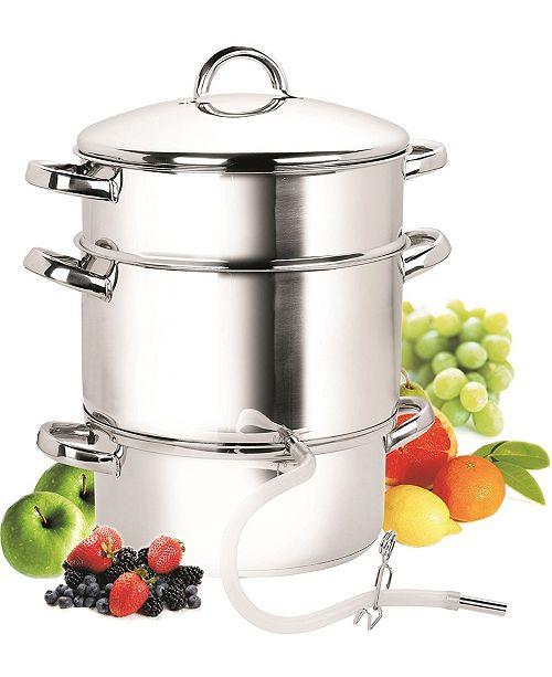 Cook N Home 11-Quart Stainless Steel Fruit Juicer Steamer Multipot, 28cm