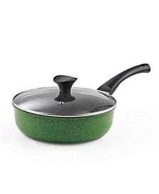 "3-Quart 9.5"" 24cm Nonstick Ceramic Deep Saute Stir Fry Pan Wok with Lid"