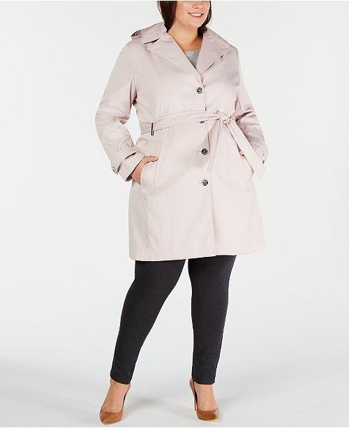 Calvin Klein Plus Size Waterproof Trench Coat & Reviews - Coats ...