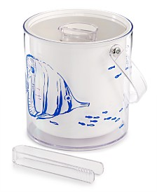The Cellar Coastal Ice Bucket with Tongs, Created for Macy's