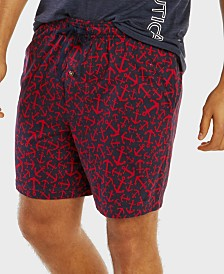 Nautica Men's Anchor-Print Pajama Shorts