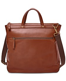 Fossil Haskell Leather Work Bag