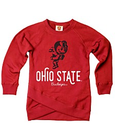 Wes & Willy Ohio State Buckeyes Crossover Sweatshirt, Toddler Girls (2T-4T)