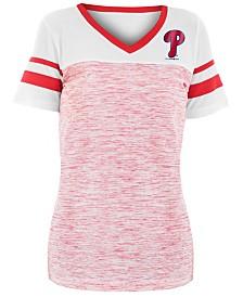 5th & Ocean Women's Philadelphia Phillies Space Dye Back T-Shirt