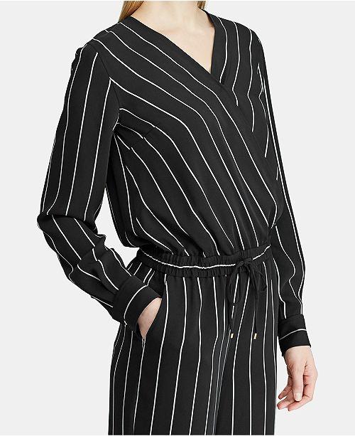 6a4baade75fd Lauren Ralph Lauren Striped Jumpsuit   Reviews - Dresses - Women ...