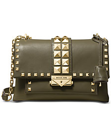 MICHAEL Michael Kors Cece Studded Leather Chain Shoulder Bag