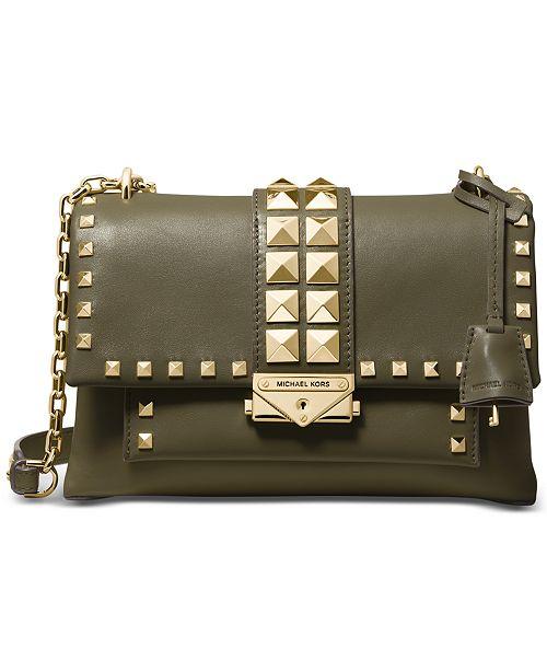 bccb054a0600 Michael Kors Cece Studded Leather Chain Shoulder Bag   Reviews ...