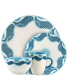 Seashore Breeze 16 Piece Service for 4 Stoneware Dinnerware Set