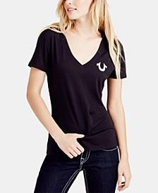 V-Neck Classic Logo T-Shirt