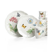 Deals on Lenox Butterfly Meadow 18-Piece Dinnerware Set, Service for 6