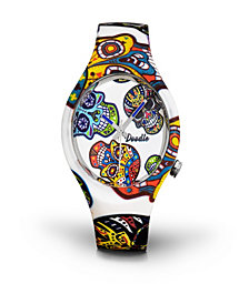 Doodle Watch White Skull